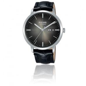 Montre Automatique bracelet cuir noir PL4045X1