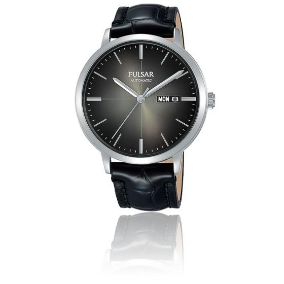 better best loved in stock Montre Automatique bracelet cuir noir PL4045X1 - Pulsar - Ocarat