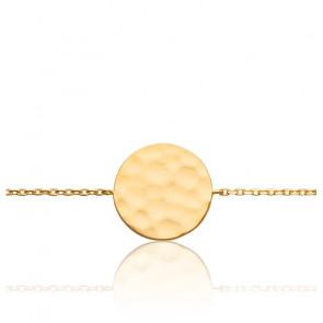 Bracelet Cercle Martelé Plaqué Or Jaune