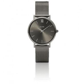 Montre Minuit Mesh Full Dark Grey CL30067