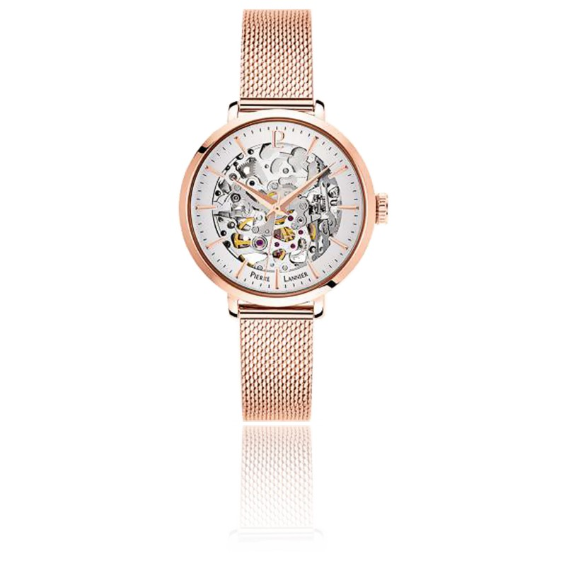 Montre Automatic PVD or rose Maille Milanaise 313B928