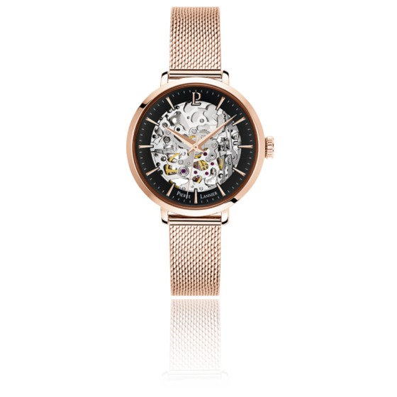 Montre Automatic PVD or rose/noir  Maille Milanaise 313B938