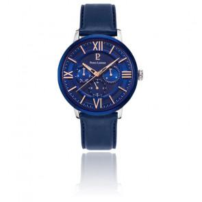 Montre homme bleu acier / cuir 253C166