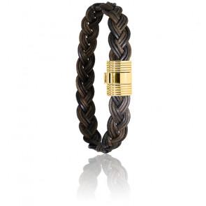 Bracelet 606 Poils Éléphant Tressé & Or Jaune 18K