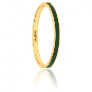 Bracelet Bangle Vert Loup Plaqué Or Jaune
