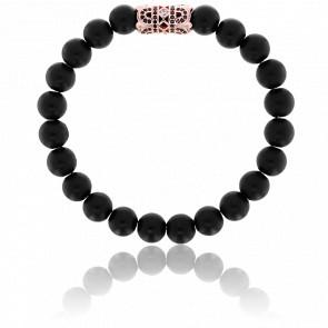 Bracelet Exclusive Orient  Noir, Rose & Zircons Noirs