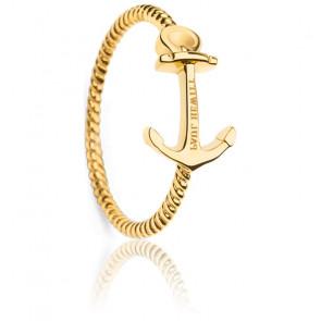 Bague Anchor Rope IP Doré