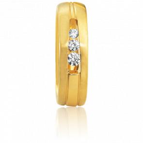 Alliance Agria Or Jaune et Diamants