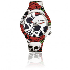 Montre Roses and Skulls