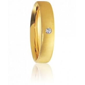Alliance Alimia Or Jaune et Diamant