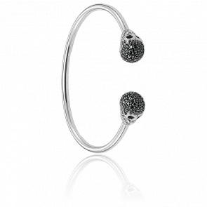 Bracelet Jonc Tête de Mort Avec Pavé, AR083-643-11