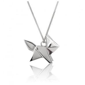 Collier Renard  Origami Argent