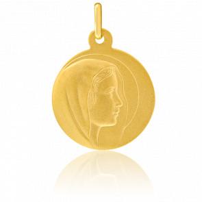 Médaille Vierge Auréolée Or Jaune 18K