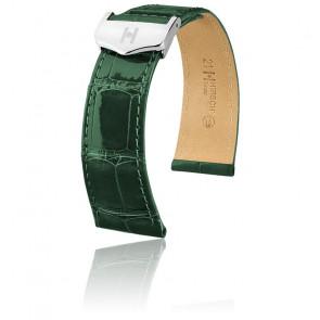 Bracelet Savoir Selection Alligator Shiny Vert foncé