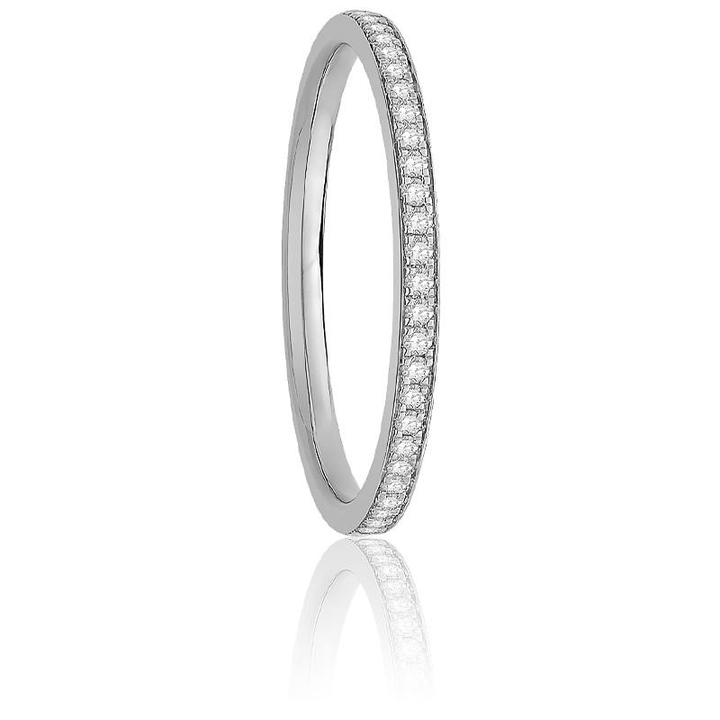 Alliance Nelly Diamants 0,10 ct & Or Blanc 18K