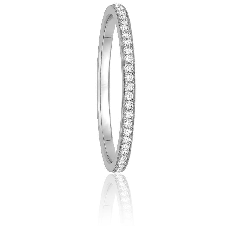Alliance Séléna Diamants 0,20 ct & Or Blanc 18K