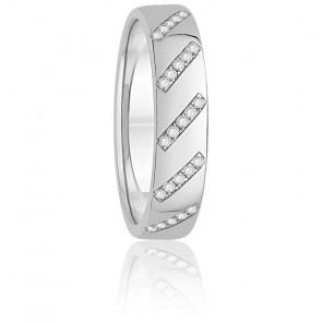 Alliance Théia Diamants & Or Blanc 18K