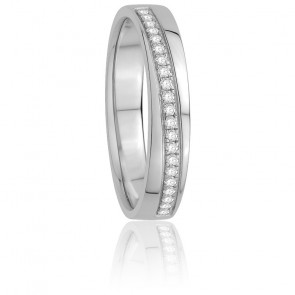 Alliance Ilona Diamants & Or Blanc 18K