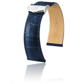 Bracelet Savoir Selection Alligator Bleu Mat
