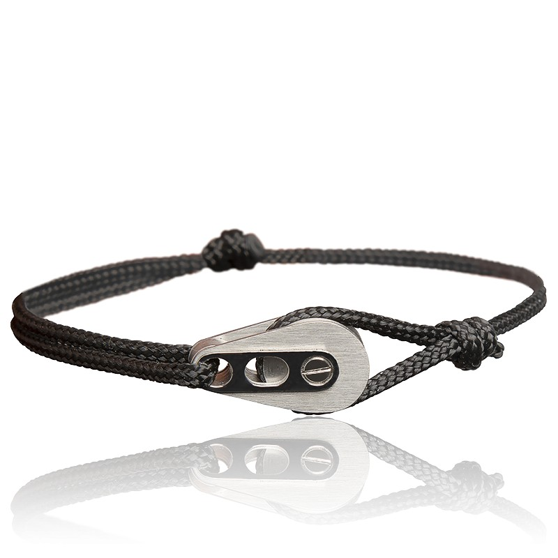 Bracelet homme acier brosse