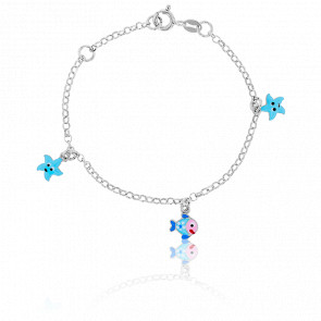 Bracelet Poisson & Etoile Argent