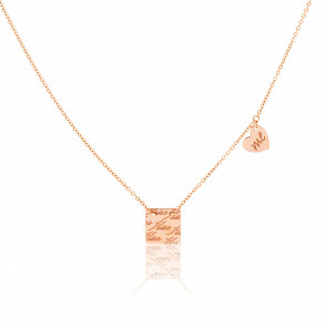 Collier Kiss Me Or Rose 18K