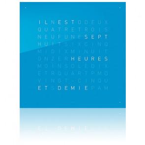 Façade Qlocktwo Classic en acrylique (Bleue / FR)