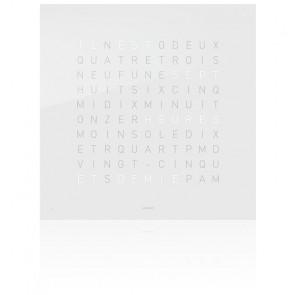 Façade Qlocktwo Touch en acrylique (Blanche / FR)