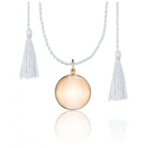 Bola Joy Cordon Soie & Plaqué Or Rose 18K
