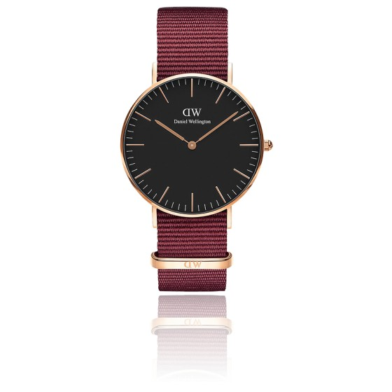 Montre Classic Black Roselyn Or Rose 36mm