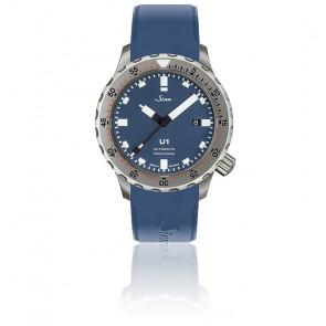 Montre Homme Bracelet Silicone Bleu U1 B