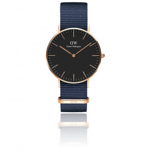 Montre Classic Black Bayswater Or Rose 40mm