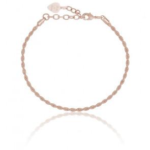 Bracelet Twist Corde de Guitare Bronze & Argent Rosé