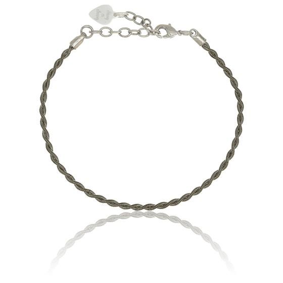 bracelet argent vieilli