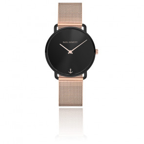 Montre Miss Ocean Black Sunray acier PH-M-B-BS-4S
