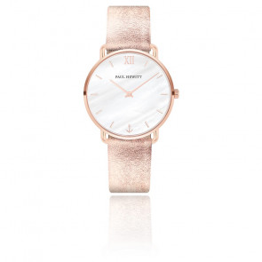 Montre Miss Ocean Pearl cuir liquid rose PH-M-R-P-29S
