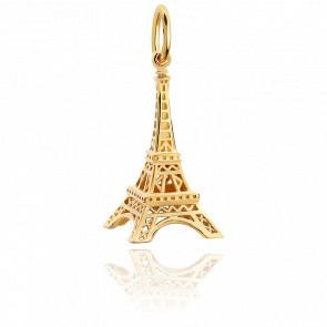 Pendentif Tour Eiffel Plaqué Or Jaune 14K