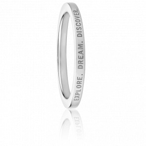 Bague Explore Dream Discover Argent