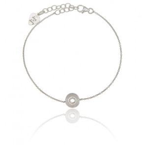 Bracelet Vinyle Petit Modèle Argent