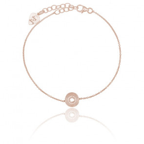 Bracelet Vinyle Petit Modèle Argent Rosé