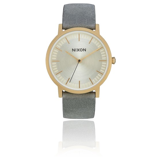 Montre Porter Leather All Light Gold / Gray A1058-2982-00