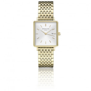 Montre The Boxy Blanc Sunray - Or QWSG-Q09