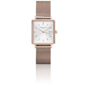 Montre The Boxy Blanc Sunray - Or rose QWSR-Q01