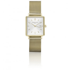 Montre The Boxy Blanc Sunray - Or QWSG-Q03