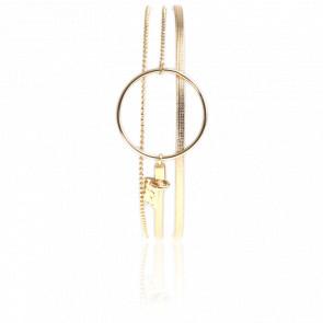 Bracelet Nolah Doré Quadrillé