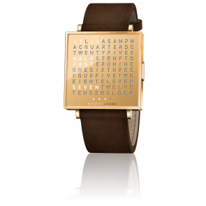 Montre Qlocktwo W35 Golden Words