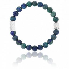 Bracelet Chrysocolle & Buddha Argenté