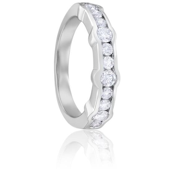 Bague Gasby Demi-Tour Diamants & Or Blanc 18K