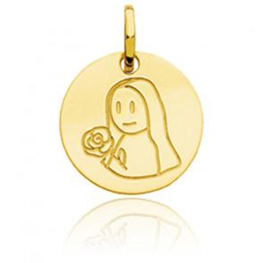 Médaille Zodiaque Petite Vierge Or Jaune 18K