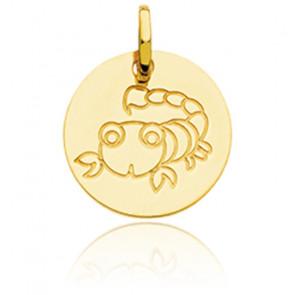 Médaille Zodiaque Petit Scorpion Or Jaune 18K